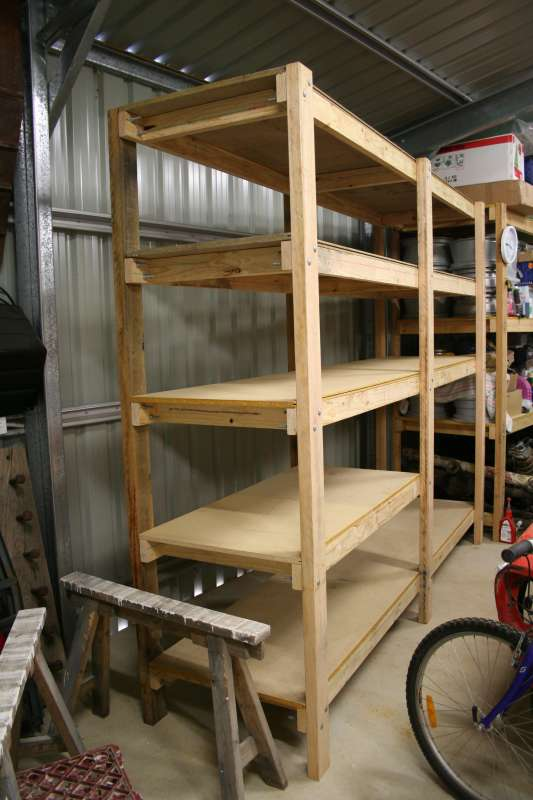 View topic - Shelving inside a colorbond shed • Home ...