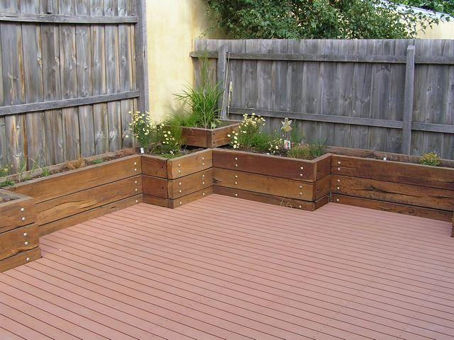View topic back courtyard ideas home renovation for Garden planter ideas